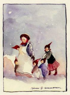 "Vintage Winter - Minna Immonen, Finland.   Also see N. Kelly's  ""Christmas Images"" board."