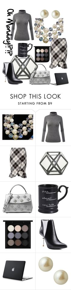 """""""Oh Monday?!?!"""" by mdfletch ❤ liked on Polyvore featuring Exclusive for Intermix, Michael Kors, Pier 1 Imports, MAC Cosmetics, Carolee and ohmonday"""