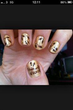 Gold Harry Potter Nail Design