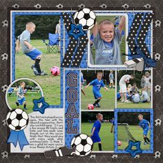 used in this layout: Goal! by Penny Springmann plus a couple of papers from Kickin' It by Misty Cato Template from Universal Album 1 by Cindy Schneider font - DJB Preppy Side