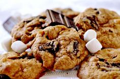 This camping favorite transforms into a melt-in-your-mouth s'mores cookie.