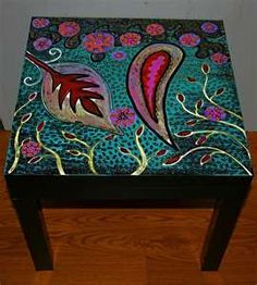 paisley furniture | Paisley Garden Table | Painted furniture