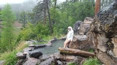 GUYS. I just went on the most amazing vacation with my boyfriend and we found gorgeous hidden natural hot springs. The weather was nasty and rainy but the water was nice and warm. The Spence Hot springs is a must see in Jemez Springs, New Mexico.