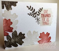 Elaine's Creations: For All Things Simple One Layer Cards