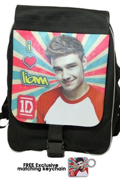 """One Direction Large Backpack, """"Liam Payne in Retro"""", Limited Edition with Free Exclusive Keychain One Direction Gifts, One Direction Merch, I Love One Direction, Liam Payne, First Love, Lunch Box, Backpacks, Amazon, Retro"""
