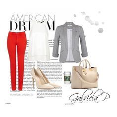 Perfect outfit with red jeans by gabi-prikrylova on Polyvore featuring Topshop, Miss Selfridge, Armani Jeans, Gianvito Rossi and Sophie Hulme