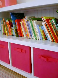 Storage Shelves for the kids room.
