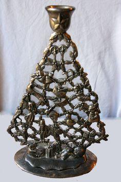 Vintage silver candlestick holder