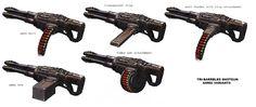 Daryl Mandrayk Turok 2 Gatling-shotgun Concept-art.