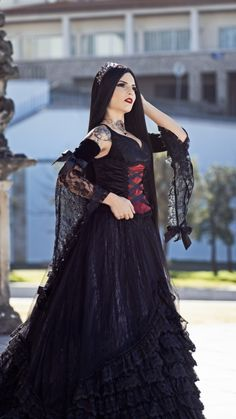 Gothic Models, Gothic Dress, Victorian Gothic, Sexy Tattoos, Gothic Beauty, Steampunk, Feminine, Womens Fashion, Clothes