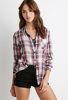 Classic Plaid Shirt | Forever 21 - 2000078378