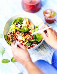 Salade fraîcheur pastèque concombre