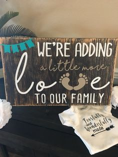 Baby Announcements Custom Wood Sign