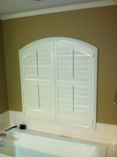 3 1 2 Quot Composite White Shutters Installed On This Sunken