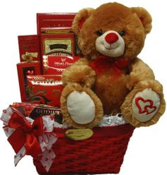 """Delight Expressions™ """"Sweet Temptation"""" Gourmet Food Gift Basket - A Valentine's Day Gift Idea! - http://mygourmetgifts.com/delight-expressions-sweet-temptation-gourmet-food-gift-basket-a-valentines-day-gift-idea/"""