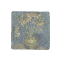 Imperial Fritillaries in Copper Vase by Van Gogh #Stone #Magnet