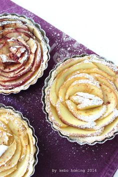 Apfelrosen Tartelettes #apple #tarte #recipe