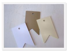50 Blank flag Tags Gift Cards Pennant Escort Cards by greenridge, $5.00