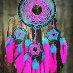 Daisy Flower HandMade Colorful Dreamcatcher by DreamOfABird on Etsy