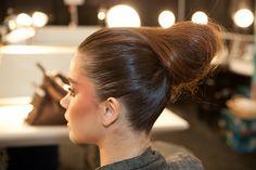 How To: 7 Steps by Aveda.  Updo with mini-crimper detailing by Antoinette Beenders for Aveda at Christian Siriano Fashion Week