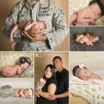 Military Newborn Portraits; Air Force Newborn Portraits; KP Photography