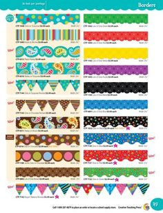 CTP Borders (47) - Dots on Turquoise, Dots on Chocolate, etc...