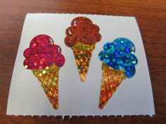 Hambly Sparkle Prismatic Ice Cream Cone Stickers by thegrantgirl on Etsy https://www.etsy.com/listing/201118966/hambly-sparkle-prismatic-ice-cream-cone