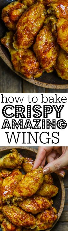 Making crispy, amazing wings is so simple! Make a few just for you or a huge batch for a crowd! (Chicken Meals For A Crowd) Chicken Drumstick Recipes, Chicken Wing Recipes, Meat Recipes, Cooking Recipes, Healthy Recipes, Dishes Recipes, Chicken Meals, What's Cooking, Turkey Recipes
