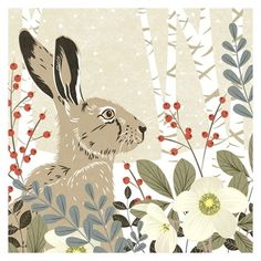 "fruityandbelle: "" http://www.woodlandtrustshop.com/products/646-woodland-hare-christmas-cards-pack-of-8.aspx """