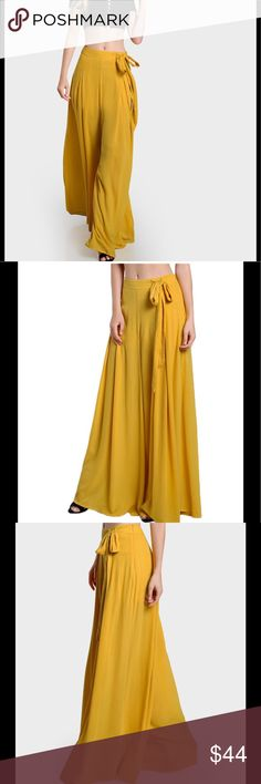 Wide Legged Palazzo Pants ✨Material: Rayon ✨Pleas see last pic for sizing   ✨Brand used for exposure ✨Please allow 14days for delivery BCBGeneration Pants Wide Leg