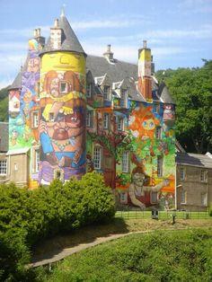 Grafitti Covered Kelburn Castle