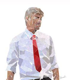 Arsene Wenger Football Ads, Arsenal Football, Arsenal Fc, Patrick Vieira, Arsene Wenger, Sport Icon, Ad Art, Fa Cup, Portrait