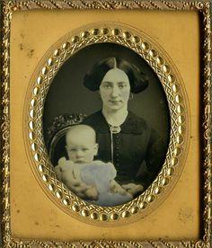 Lovely Tinted Mother Child Portrait Daguerreotype Excellent Composition   eBay