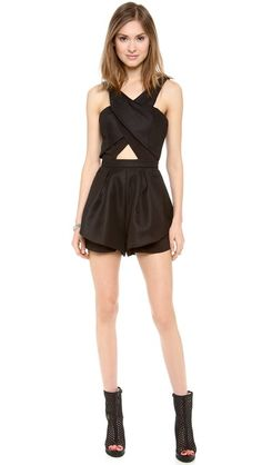 Yes, shortlets with layered materials and peekaboo cut outs. You look so good on me. findersKEEPERS Like Smoke Playsuit