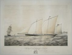 To the Rt. Honble. Lord Willoughby de Eresby, this print of The Lugger Yacht 'New Moon', 220 Tons, is respectfully dedicated by His very obedient Servant, Wm Foster.