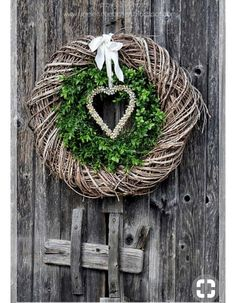 Winter February Valentine's Day Double Wreath & Heart DOOR JANK IN JANUARY IN ., Winter February Valentine's Day double wreath & heart wooden door in January for introduction :). Fall Garland, Autumn Wreaths, Christmas Wreaths, Christmas Decorations, Christmas Ornaments, Diy Wreath, Door Wreaths, Grapevine Wreath, Deco Floral