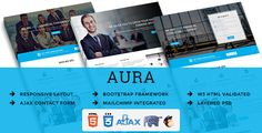 AURA - Multipurpose Responsive HTML Landing Pages by themetemplatedesign AURA ¨C Multipurpose Responsive HTML Landing PagesAbout AURAAURA ¨C Multipurpose Responsive HTML Landing Pages Pages are clean and simple with easily customizable. Suitable for Corporate, Business, Accounts, Financial and Consulting
