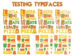Testing typefaces. Self Branding, Design, Pork