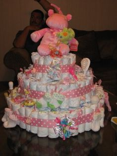 This diaper cake is from my personal baby shower when I had my first child.