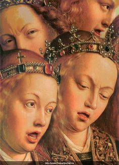 Jan Van Eyck, detail of the Ghent Altarpiece