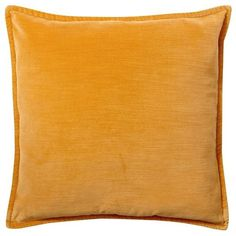 """Pottery Barn Washed Velvet Pillow Cover 20 x 20"""" ($30) ❤ liked on Polyvore featuring home, home decor, throw pillows, pillow, gold, pottery barn throw pillows, velvet throw pillows, velvet accent pillows, pottery barn and plush throw pillows"""