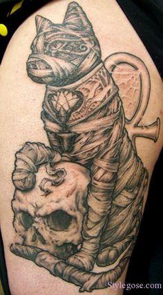 mummy cat tattoo