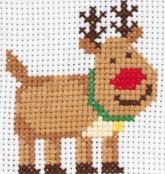 image of Rudolph Cross Stitch Kit
