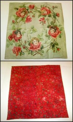 """Decorator's Dream. Victorian 1906 lithograph on fabric with modern backing for a 21"""" square pillow sham. Gorgeous print!"""
