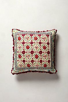 Embroidered Condesa Pillow #anthropologie