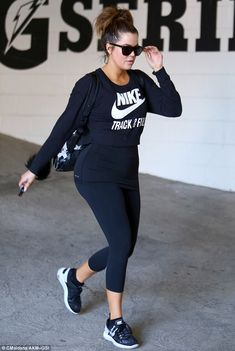 Routine: The 30-year-old in at her Beverly Hills gym practically every day in an effort to stay in shape