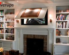 How To Mount Your TV Above A Fireplace And Hide Your Cable Box - Tv above fireplace pictures ideas