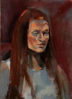 Portrait of Sophie Turner by Aine Divine painted for the Sky Arts Portrait Artist of the Year 2014