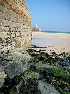 Lifeboat launch pier, St.Ives, Cornwall, UK.  Photo by Carolyn Saxby.  Great place for beach combing! =)