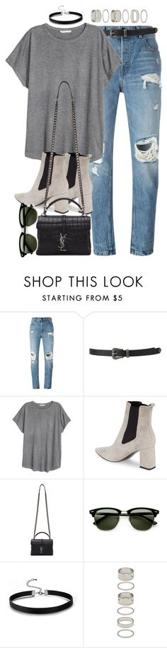 """Sin título #2401"" by marianam97 ❤ liked on Polyvore featuring Alexander Wang, Forever 21, H&M, Marc Fisher LTD, Yves Saint Laurent and Ray-Ban"